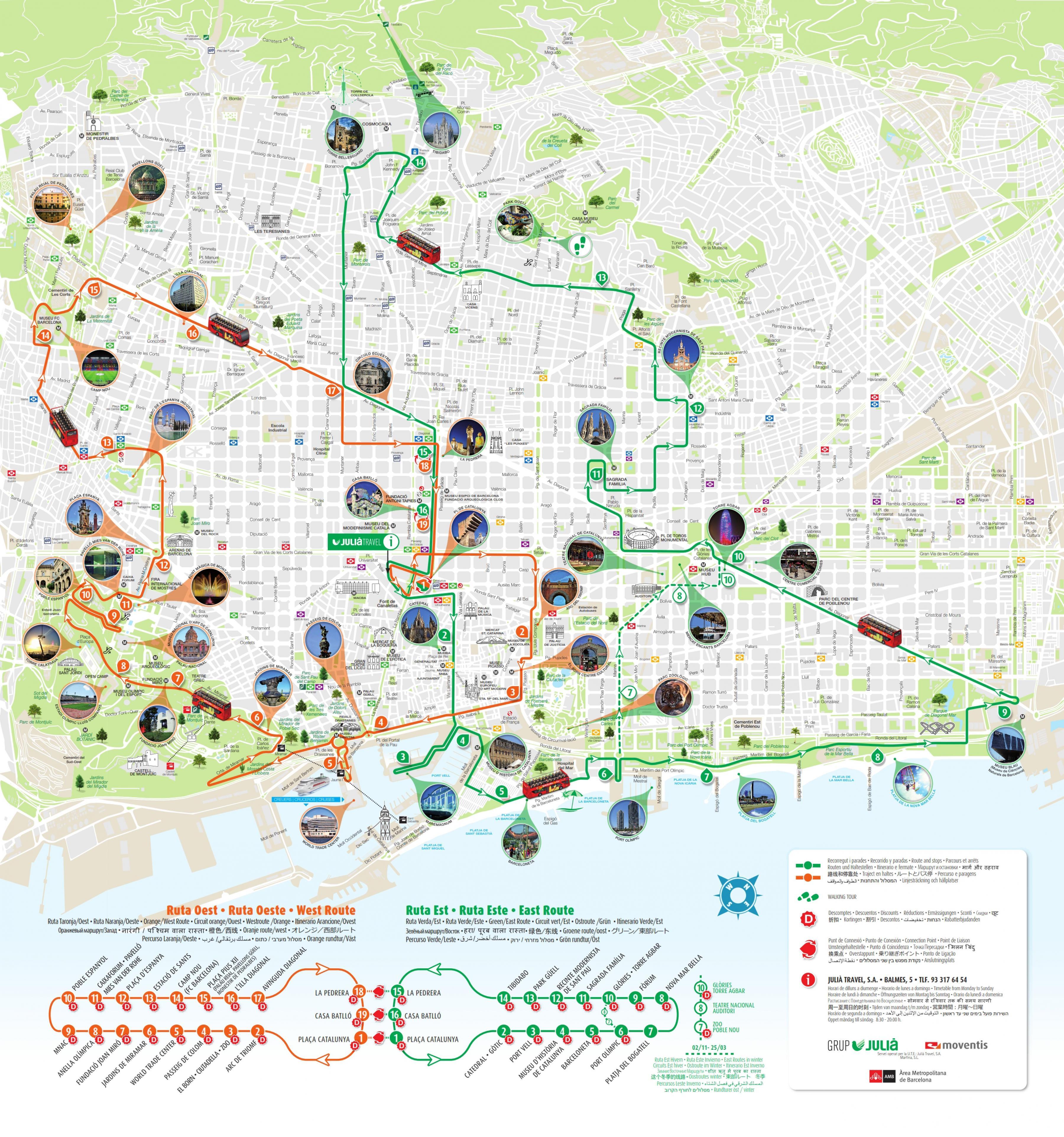 Cartina Metro Barcellona.Barcellona Monumenti Mappa Mappa Dei Monumenti Di Barcellona Catalogna Spagna