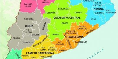 Cartina Catalogna.Barcellona Mappa Cartina Di Barcellona Catalogna Spagna