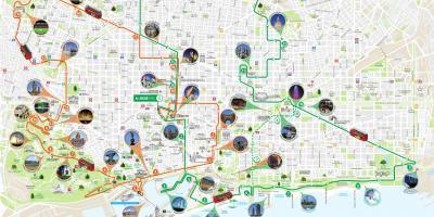 Barcellona Mappa Mappe Di Barcellona Catalogna Spagna